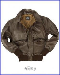 US A2 Veste en cuir armée de Terre Pilote Blouson Leather Jacket Brun Marron