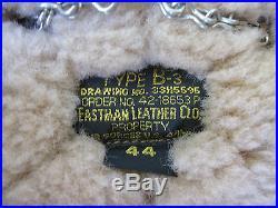 US B3 Eastman Veste blouson de pilote. 50 Cal B-3 EN CUIR FORCE AÉRIENNE 40