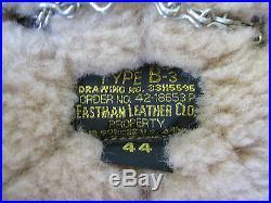 US B3 Eastman Vol Veste Blouson de Pilote. 50 Cal B-3 en Cuir Force Aérienne