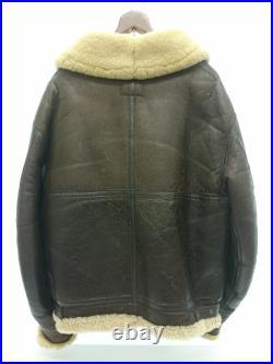 Utilisé AVIREX B-3 / Veste Cuir Blouson 40 Cuir Brw Uni pour Hommes
