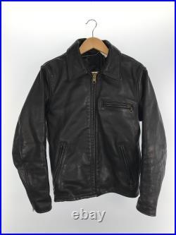 Utilisé Schott Veste Cuir Blouson 36 Noir Uni pour Hommes