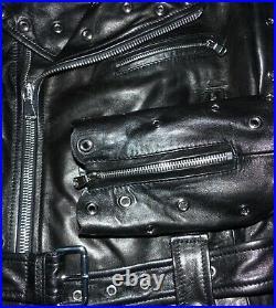 VALENTINO BLOUSON PERFECTO EN CUIR AGNEAU NOIR Valentino leather jacket