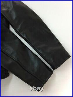 VANSON Authentique Blouson Veste Cuir Noir Taille Hommes 34 Utilisé