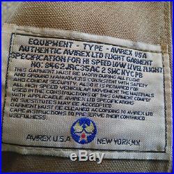 VESTE BLOUSON AUTHENTIQUE AVIREX B3 BOMBER VINTAGE taille L Made USA
