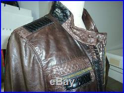 VESTE BLOUSON CUIR L. A. M. B. Par Gwen Stefani Taille 38 NEUF 1200 euros