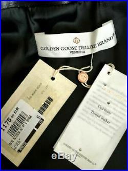 VESTE BLOUSON EN CUIR NOIR NEUF étiqueté 1175 GOLDEN GOOSE DELUXE VENEZIA S