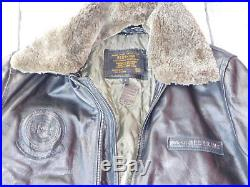 VESTE L REDSKINS A2 LEATHER Blouson CUIR Aviateur HOMME JACKET task force 84 AIR