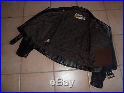 VINTAGE BLOUSON veste PERFECTO CUIR /SCHOTT/ MADE IN USA/ 42 / PARFAIT ETAT