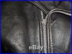 VINTAGE BLOUSON veste PERFECTO CUIR / /SCHOTT/ MADE IN USA/ 46 /BON ETAT