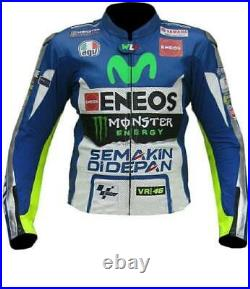 Valentino Rossi 46 Hommes Moto Veste Cuir Courses MOTOGP Motard Blousons Cuir