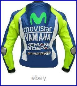 Valentino Rossi 46 Veste en Cuir de Moto Courses MOTOGP Vestes de Motard Cuir CE