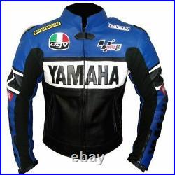 Valentino Rossi en Cuir de Moto Courses Hommes MOTOGP Vestes de Motard en Cuir