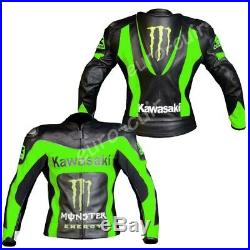 Vert Vêtement En Cuir Hommes Motorbike Biker Cuir Veste Moto Cuir Veste 48,52
