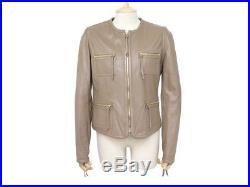 Veste Barbara Bui 42 L Blouson En Cuir Agneau Perfore Brun Leather Jacket 1400