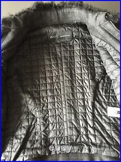 Veste Blouson Barbara Bui gris carreaux cuir