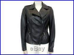 Veste Blouson Burberry Perfecto T 40 M En Cuir Noir Back Leather Jacket 1700