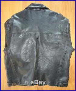 Veste Blouson CUIR NOIR SCHOTT Taille XL