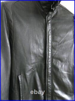 Veste Blouson Court Cuir Noir Homme T52 SERAPHIN