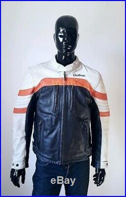 Veste Blouson Cuir Moto Café Racer Taille 54