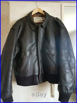 Veste Blouson Cuir SCHOTT Aviateur Flight Jacket I. S. 674. M. S Vintage