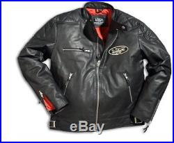 Veste Blouson Cuir Warson Motors motorcycle noir custom café racer harley 3XL