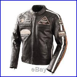 Veste Blouson En Cuir, Blouson Pour Motards, Chopper, Leather Jacket, Taille XL
