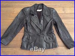 Veste Blouson En Cuir Givenchy T 38 Noir Vintage Pas De Contrefacon