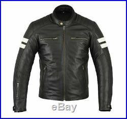 Veste Blouson En Cuir pour Moto, Cafe Racer, Vintage, Chopper, Tout S a 4XL