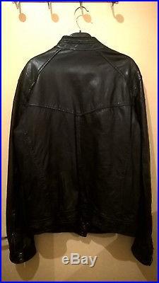 f6d9d23bc2c Veste Blouson Homme DAYTONA Cuir Bleu fonce Noir Taille Medium 02 qe.jpg