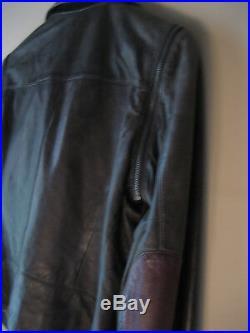 Veste Blouson LE SENTIER 100% cuir agneau manches amoviblesT38/40
