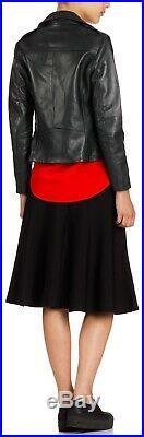 Veste Blouson Perfecto en cuir noir SANDRO T2 Val399 Comme Neuf