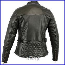 Veste Blouson Pour Femme Blouson Pour Moto Vintage Biker Chopper Veste de cuir