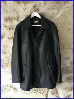 Veste Blouson cuir véritable homme noir Burton parfait état manteau cuir TBE