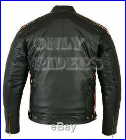 Veste, Blouson en Cuir, Biker, Moto, Homme blouson, Rocker, Chopper, Mc Jacket