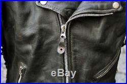 Veste Blouson en cuir Ashe Gee style Harley Davidson moto vintage byker tg L