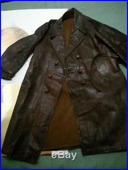 Veste Blouson manteau Cuir Francais Modele 1945 Char de Combat RCC
