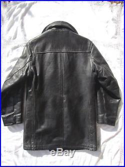 Veste Caban Blouson Cuir Schott U. S. 740n 32us Xs-s Lederjacke Leather Pea Jacket