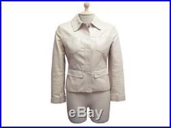 Veste Christian Dior En Cuir Beige Irise T 36 S Blouson Leather Jacket 2500