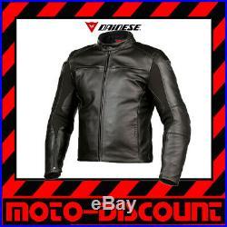 Veste Combinaison Dainese Razon Pelle Taille 50 Noir Veste en Cuir Classic