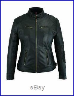 Veste Cuir Moto Femme, Blouson Cuir, Kustom, Leather Jacket, Lederjacke Catarina