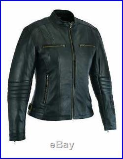 Veste Cuir Moto Femme, Veste Moto, Blouson Cuir, Kustom, MC Jacket, Lederjacke