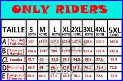 Veste Cuir Moto Noir, Blouson Moto CE, Biker Veste, Trike, Cafe Racer, S a 5XL