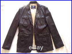 Veste Cuir blouson FACONNABLE cuir Brun S soit 48 Neuve So Chic! Val 780 euros