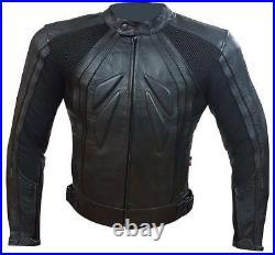 Veste De Moto en Cuir Avec Protections CE Amovibles S M L XL XXL XXXL BIESSE