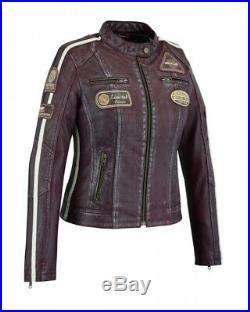 Veste En Cuir Femme, Style Moto, Blouson Cuir Femme, Rocker, Biker Veste