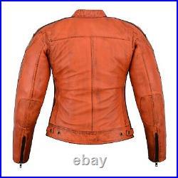 Veste En Cuir Femme, Style Moto, Blouson Cuir Femme, Rocker, Biker Veste CE Pro