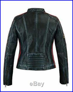 Veste En Cuir Femme, Vintage, Style Moto, Blouson Cuir, Rocker, Biker Veste