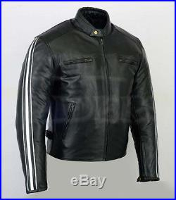 Veste En Cuir Homme Moto, Blouson Homme Motard, Chopper, Biker, Taille S a 4XL