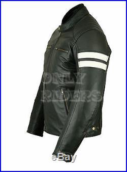 Veste En Cuir Homme Moto, Noir, Biker, Blouson Moto, Chopper, TAille de S a 4xl