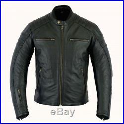 Veste En Cuir Moto, Blouson Motard, Cafe Racer, Vintage, Retro, Veste Homme